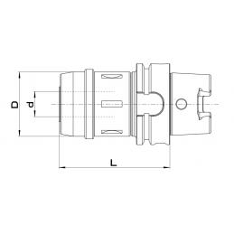 Keskiöpora, säteellinen HSS, DIN 333 R