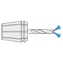 Pikateräsjyrsin (HSCO), 3-leikkuinen